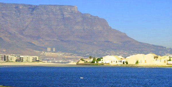 Milnerton Lagoon with Table Mountain in the background